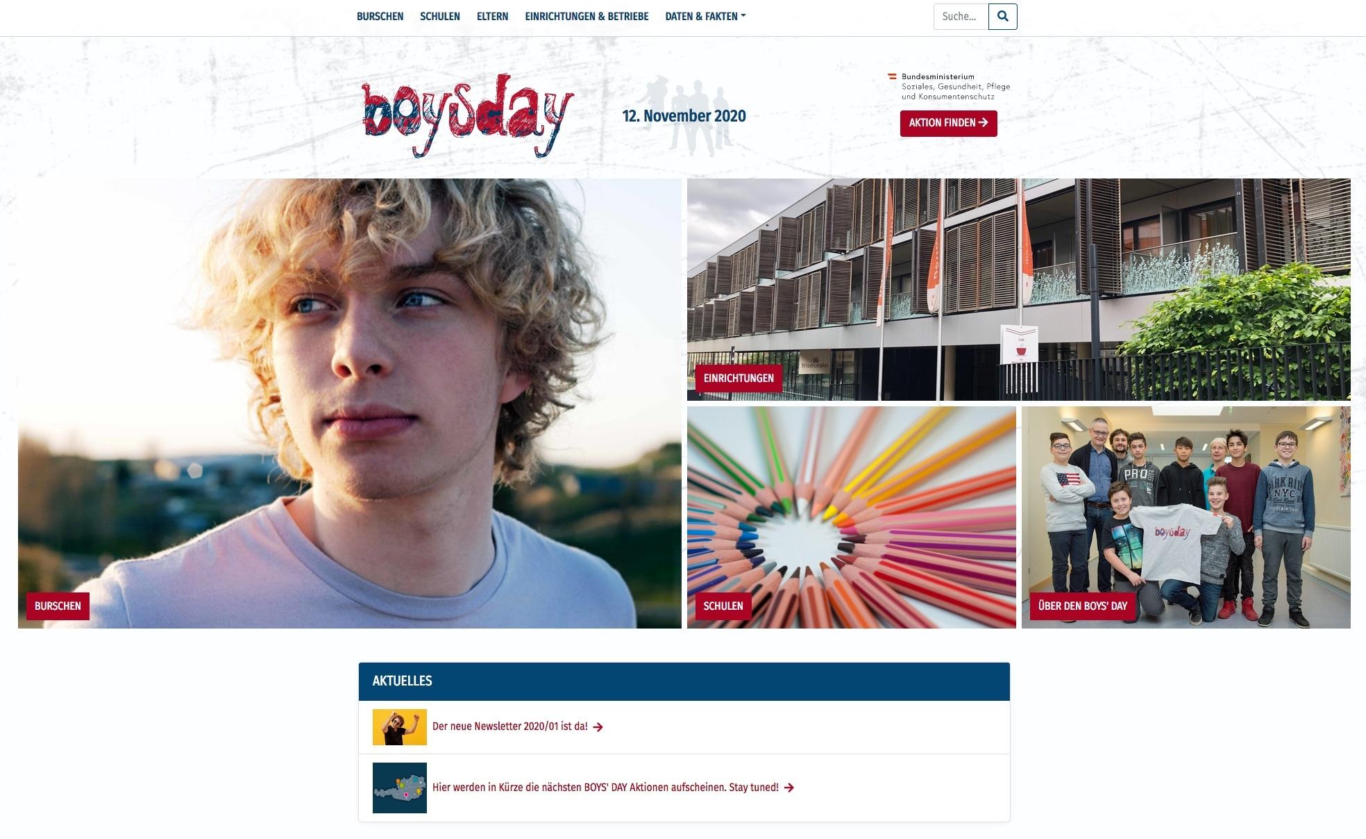 Website - www.boysday.at
